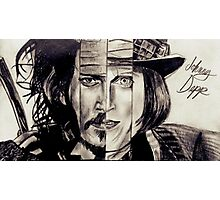 Four Faces of Johnny Depp Photographic Print