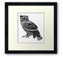 Ornate Owl Framed Print