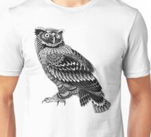 Ornate Owl Unisex T-Shirt