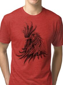 Ornately Decorated Rooster Tri-blend T-Shirt
