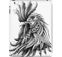 Ornately Decorated Rooster iPad Case/Skin