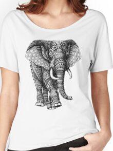 Ornate Elephant v.2 Women's Relaxed Fit T-Shirt