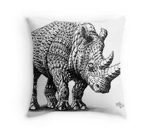 Rhinoceros Throw Pillow
