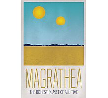 Magrathea Travel Poster Photographic Print