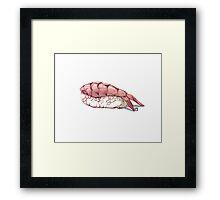 Shrimp sushi Framed Print