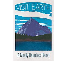 Earth Travel Poster Photographic Print