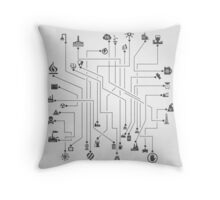 Industry the scheme Throw Pillow