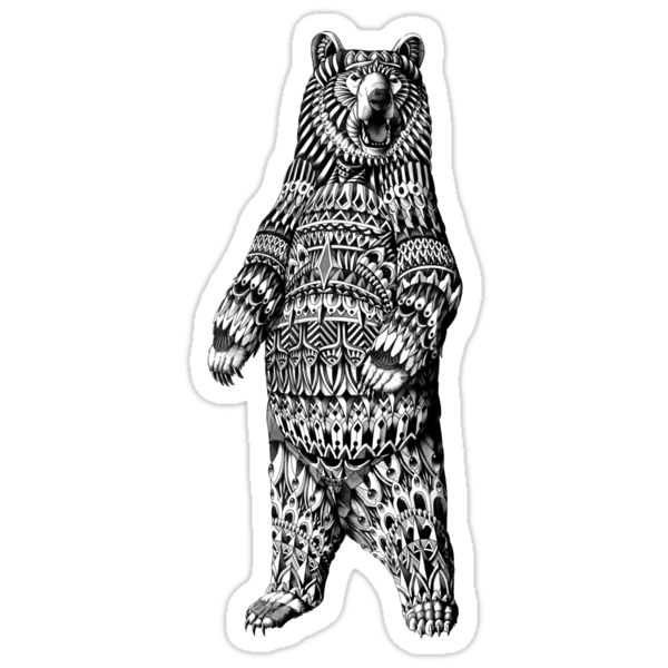 Ornate Grizzly Bear by BioWorkZ