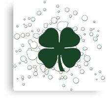 lucky clover bubbles Canvas Print