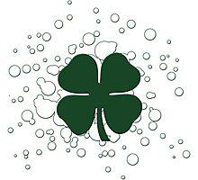 lucky clover bubbles Photographic Print