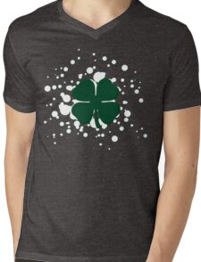 lucky clover bubbles Mens V-Neck T-Shirt