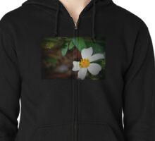 Dewdrop on wildflower Zipped Hoodie