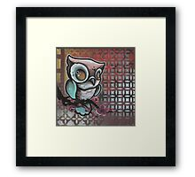 owl & cherry blossom original tattoo art Framed Print