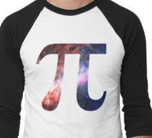 Pie Symbol 3.14 [Omega Nebula] | Mathematix Men's Baseball ¾ T-Shirt