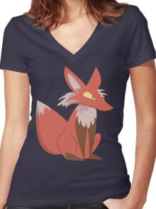 Ren the Red Fox Women's Fitted V-Neck T-Shirt