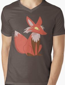 Ren the Red Fox Mens V-Neck T-Shirt