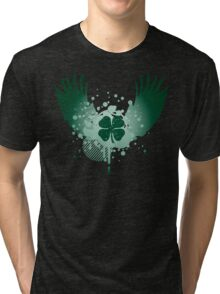 winged clover Tri-blend T-Shirt