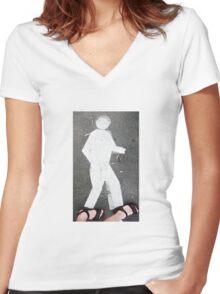 Pedestrian Women's Fitted V-Neck T-Shirt