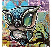 cute owl  original tattoo art Photographic Print