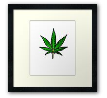 Basic Pot Leaf Framed Print