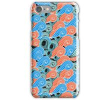 abstract pattern with waves iPhone Case/Skin
