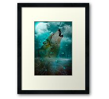 I'll See You In My Dreams (Wolf Howl) Framed Print