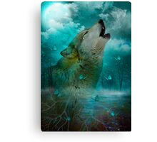 I'll See You In My Dreams (Wolf Howl) Canvas Print