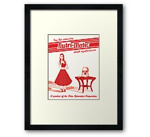 Nutri-Matic Drink Synthesizer Advertisement Framed Print