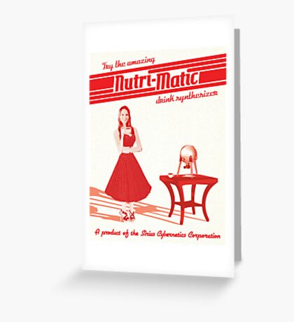 Nutri-Matic Drink Synthesizer Advertisement Greeting Card