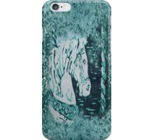 Carousel Horse - Aquamarine iPhone Case/Skin