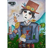 Surrealism - Undead Steampunk boy Photographic Print