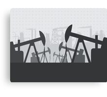 Oil extracting Canvas Print