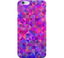 Abstract angle background in pink, blue and violet iPhone Case/Skin