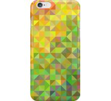 Abstract background in shades of orange and green iPhone Case/Skin