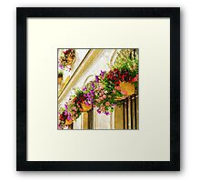 Flowers and rain Framed Print