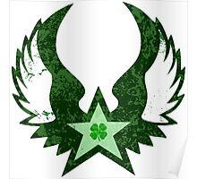 winged star shamrock Poster