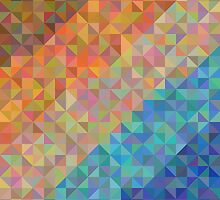 Abstract background from triangles of natural colors by amovitania
