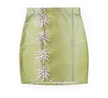 Green Cactus closeup - nature macro Mini Skirt