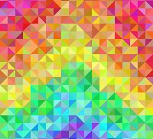 Abstract spectrum background from rainbow triangles by amovitania