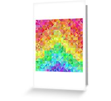 Abstract spectrum background from rainbow triangles Greeting Card