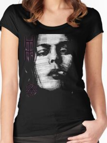 Him Valo Razorblade Tee OPTIMIZED FOR BLACK SHIRTS Women's Fitted Scoop T-Shirt