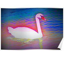 Surreal swan Poster