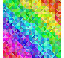 Abstract spectrum background from triangles Photographic Print