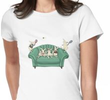 armchair tennis  Womens Fitted T-Shirt