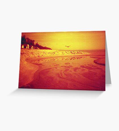 red beach Greeting Card