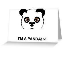 Panda style Greeting Card