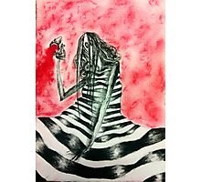 Stripy Girl #3 Photographic Print