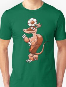 Nice armadillo balancing a soccer ball on its head T-Shirt