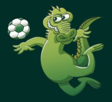 Brave alligator heading a soccer ball by Zoo-co
