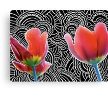 Tulip Drawing Meditation Canvas Print